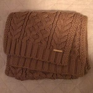 Michael Kors Patchwork Cable-Knit Muffler Scarf